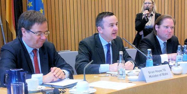 Brian Hayes, Staatsminister im Finanzministerium der Republik Irland bei der CDU-Landtagsfraktion NRW