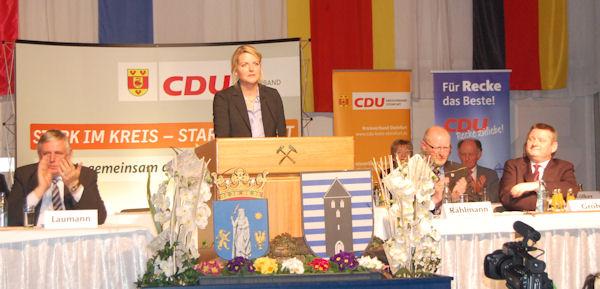 13. Politischer Aschermittwoch in Recke mit Bundesgesundheitsminister Hermann Gröhe MdB