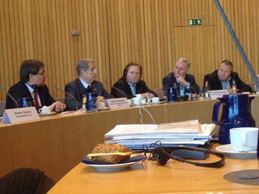 Fraktionssitzung mit dem vormaligen Staatspräsidenten des Libanon, Amine Gemayel.