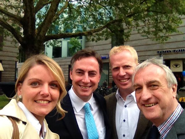 Wahlkampfveranstaltung mit David McAllister und Dr. Markus Pieper MdEP in Münster