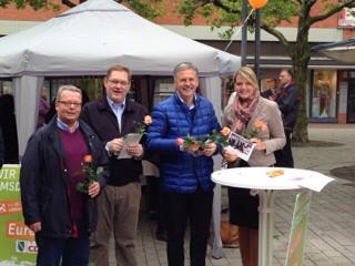 Straßenwahlkampf mit der CDU Emsdetten