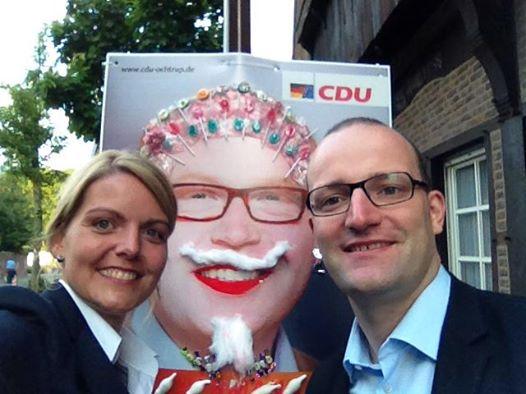 """Aktion """"Pimp my Poster"""" der CDU Ochtrup zusammen mit MdB Jens Spahn"""