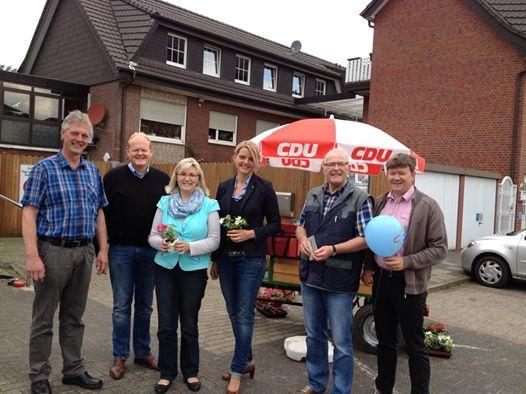 Straßenwahlkampf mit der CDU Leer