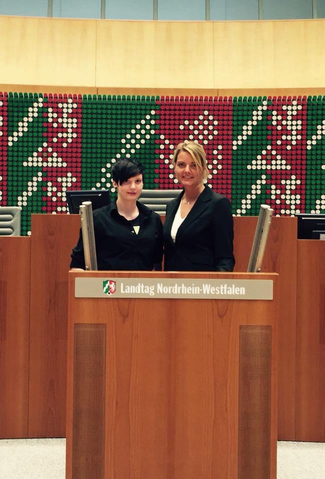 Caroline Haver hat mich einen Tag bei der Arbeit im Landtag begleitet