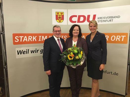 Wahlkreisvertreterversammlung im Landtagswahlkreis Steinfurt II – Glückwunsch an Andrea Stullich zur Nominierung