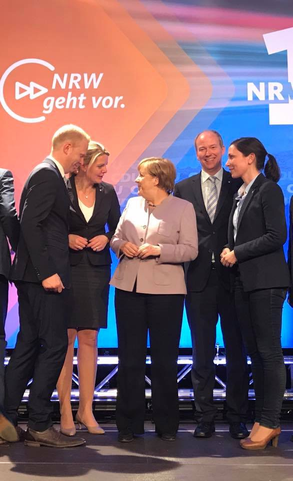 Bundeskanzlerin Angela Merkel in Oelde