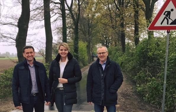 """Besuch am Radweg """"Bahndamm"""" in Wettringen"""