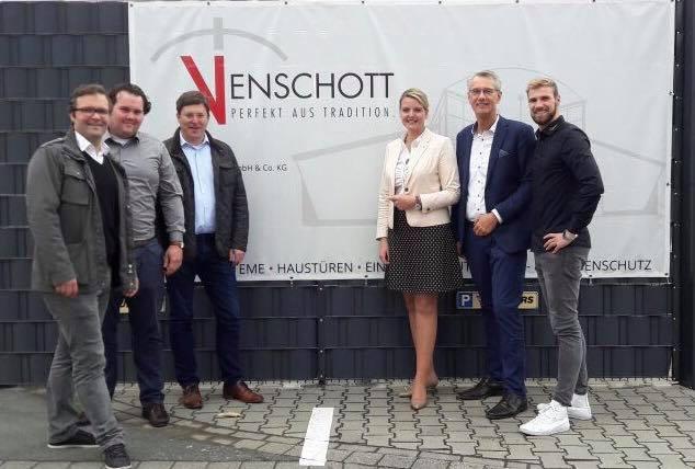 """""""Christina vor Ort"""" in Greven bei der Firma Venschott"""
