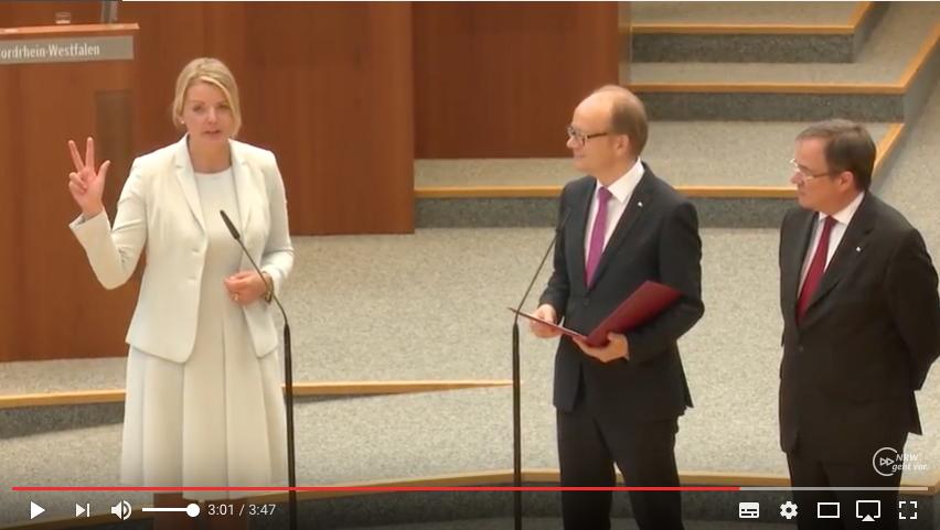 CDUNRWpodcast: Vereidigung der Ministerinnen und Minister aus dem Kabinett Laschet