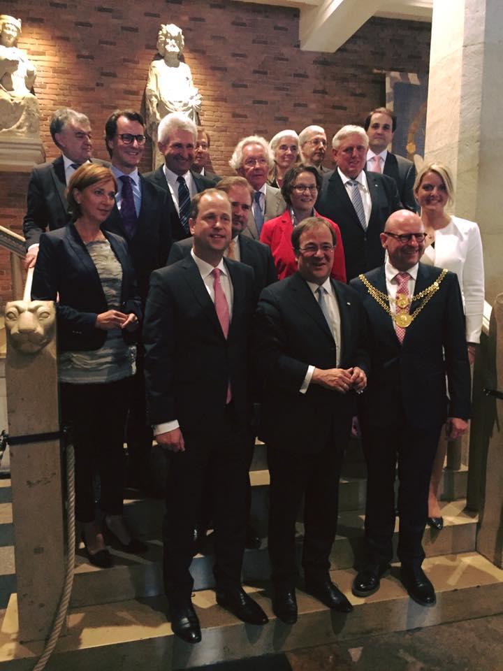 Die erste Kabinettssitzung fand im historischen Rathaus in Münster statt