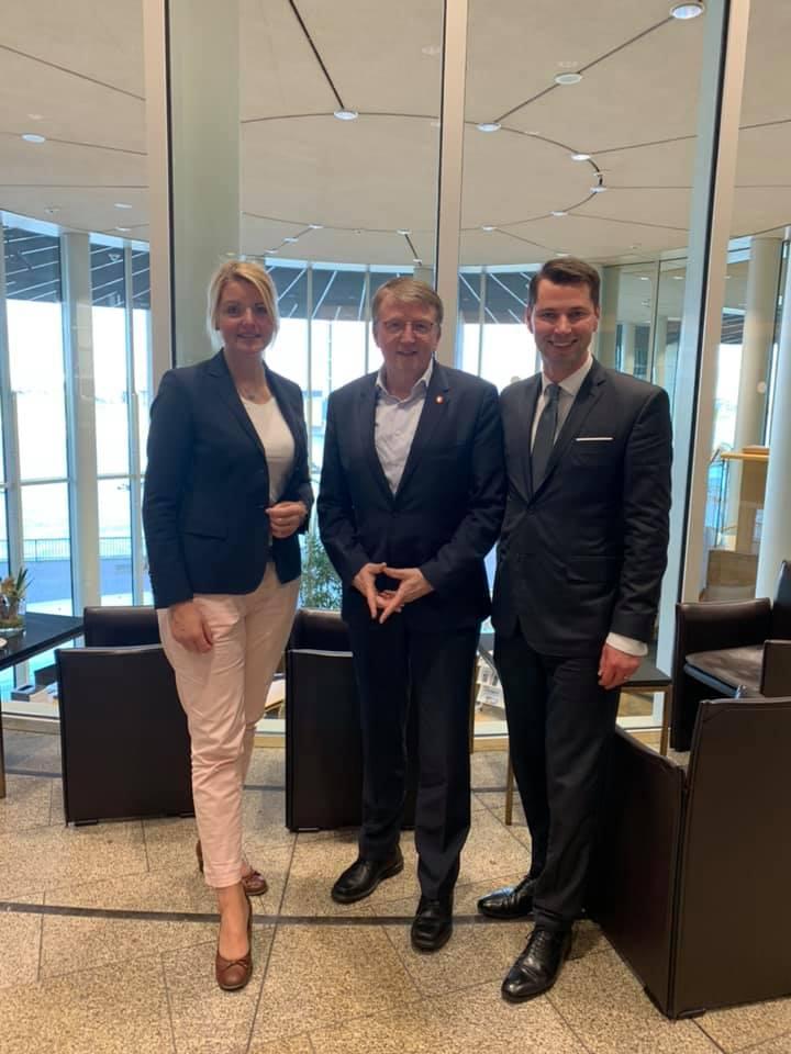 Gespräch mit Metelens Bürgermeister Gregor Krabbe im Landtag