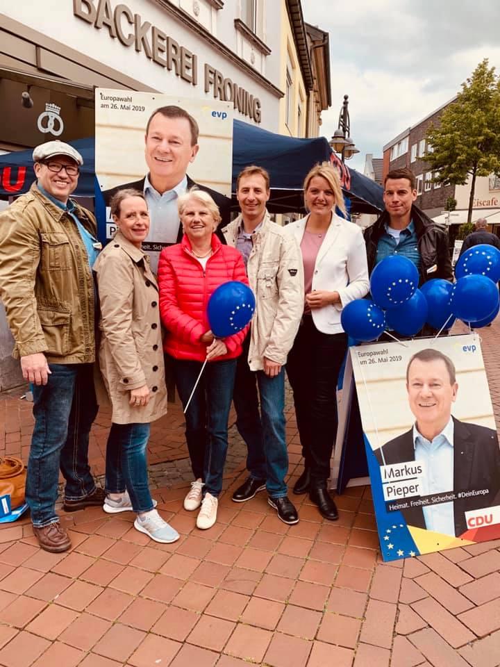 Infostand zur Europawahl in Steinfurt