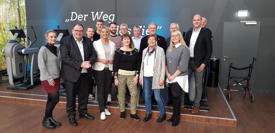 Besuch von Staatssekretärin Andrea Milz beim TV Jahn Rheine