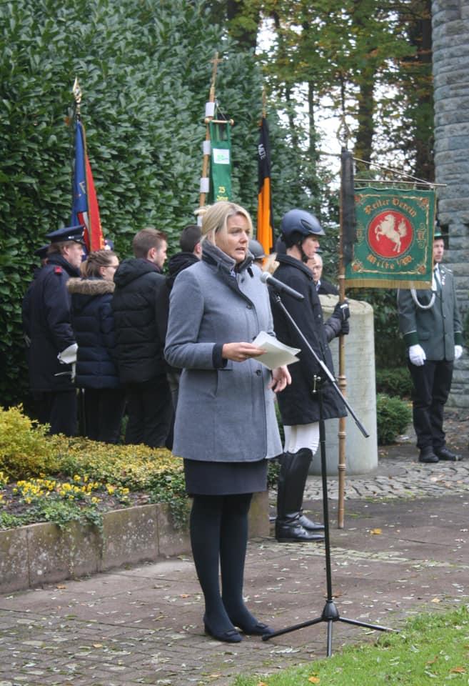 Rede beim Volkstrauertag in Milte