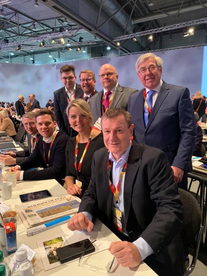 Die Steinfurter Delegierten beim CDU-Bundesparteitag in Leipzig