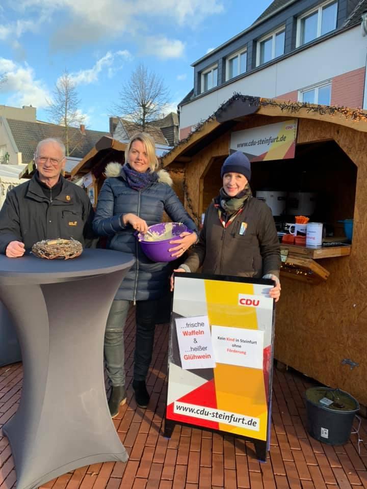 Stand der CDU Steinfurt auf dem Weihnachtsmarkt