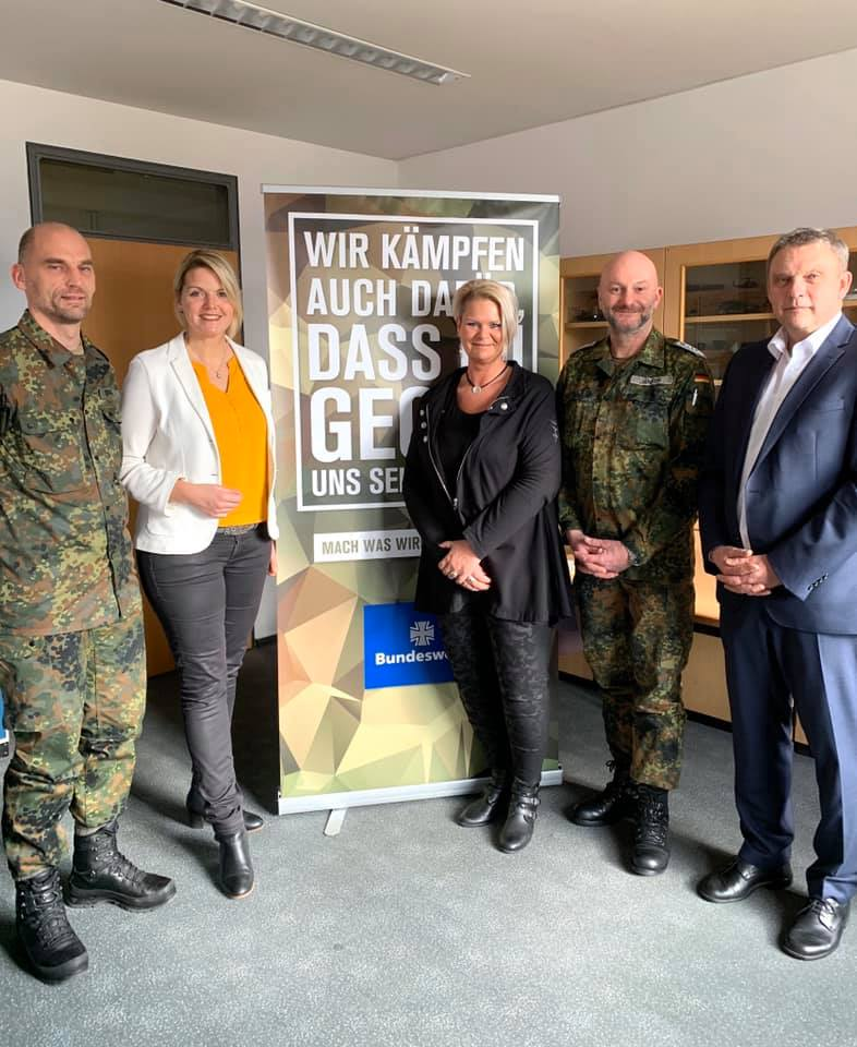 Besuch im Karrierecenter der Bundeswehr in Rheine