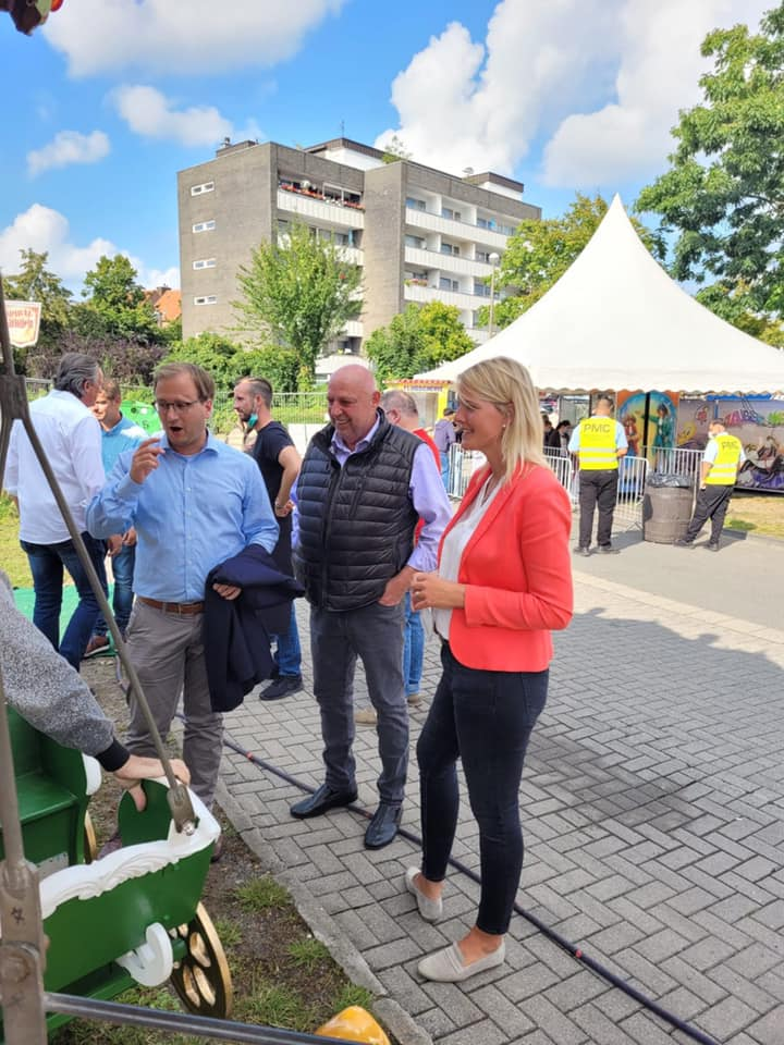 Pop-Up-Kirmespark in Greven mit Bürgermeister Dietrich Aden