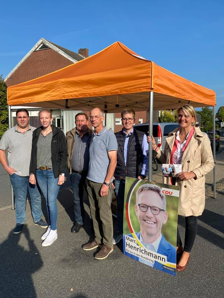 Infostand zur Bundestagswahl in Nordwalde